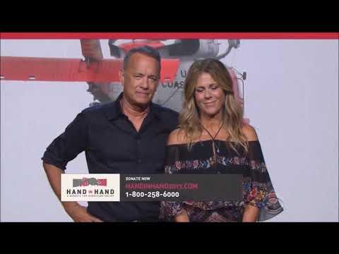 Tom Hanks and Rita Wilson speak for Hand in Hand Hurricanes Harvey and Irma Relief