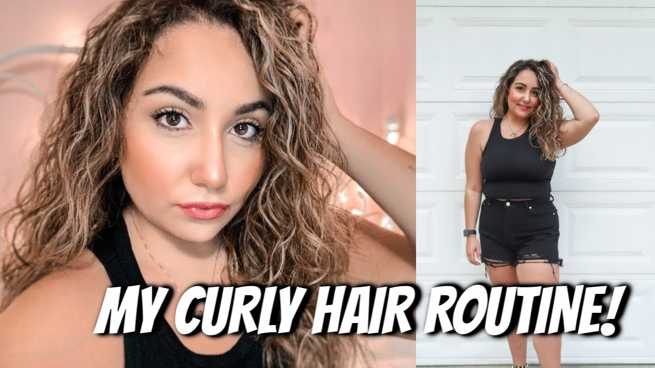 MY CURLY HAIR ROUTINE! BEST DRUGSTORE PRODUCTS FOR WAVY TO CURLY HAIR!