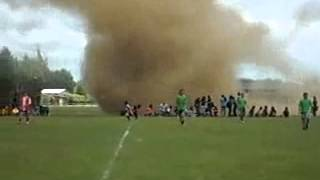 Tornado Hits soccer game