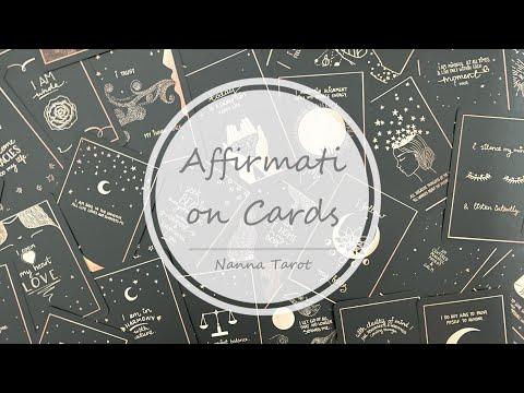 開箱  正能量肯定卡 • Affirmation Cards // Nanna Tarot