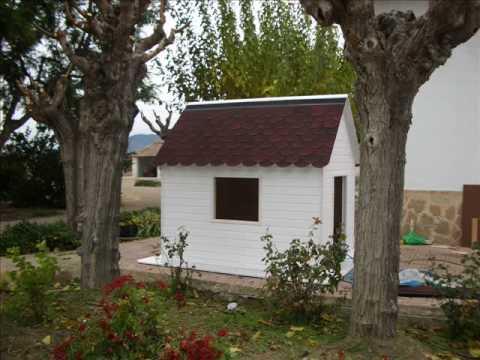 Casa de madera para ni os youtube for Casa jardin ninos