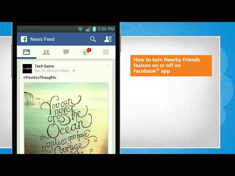 How to turn Nearby Friends feature on or off on Facebook® app