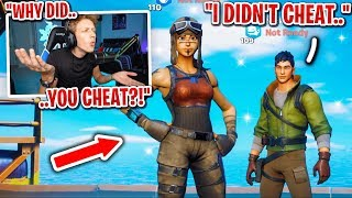 This kid got accused of CHEATING after winning 15 SCRIMS in Fortnite... (drama alert)