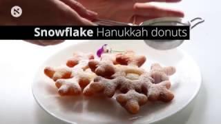 Snowflake Hanukkah donuts (sufganiyot)