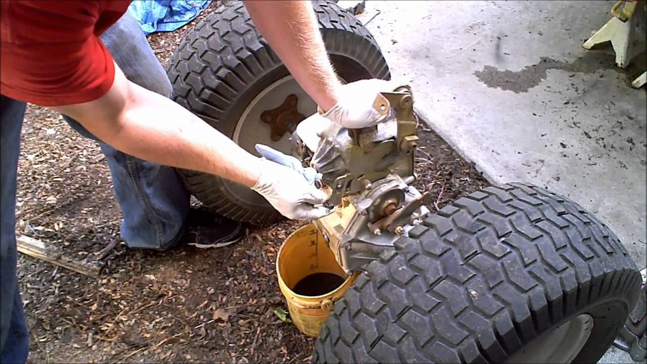 1 Hydrostatic Garden Tractor transmission rebuild 1 of 4 Hydro Gear - YouTube
