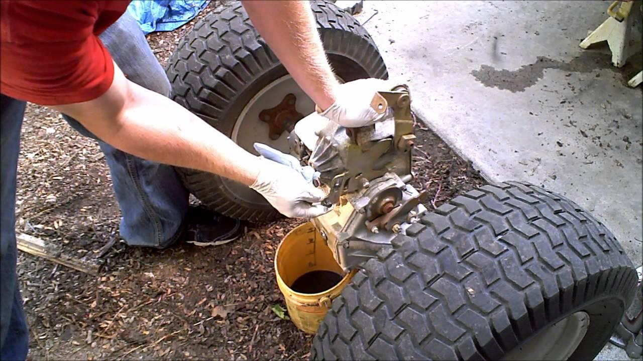 medium resolution of 1 hydrostatic garden tractor transmission rebuild 1 of 4 hydro gear youtube