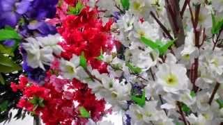 видео искусственные цветы оптом