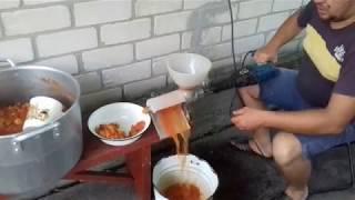Как за 5 мин  перектрутить  томаты на томатный  сок