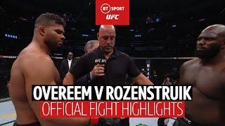 Alistair Overeem vs Jairzinho Rozenstruik fight highlights | UFC DC | Last-gasp KO!