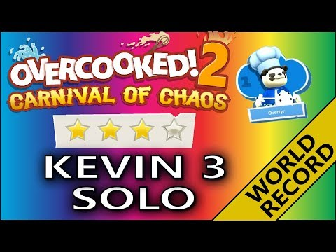 Overcooked 2 🎪 CARNIVAL OF CHAOS 🎪 Kevin 3 - 4 Stars World Record - solo - Score: 2229 |