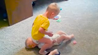Cute TWIN Babies Fighting over Things - Funny twins 2020