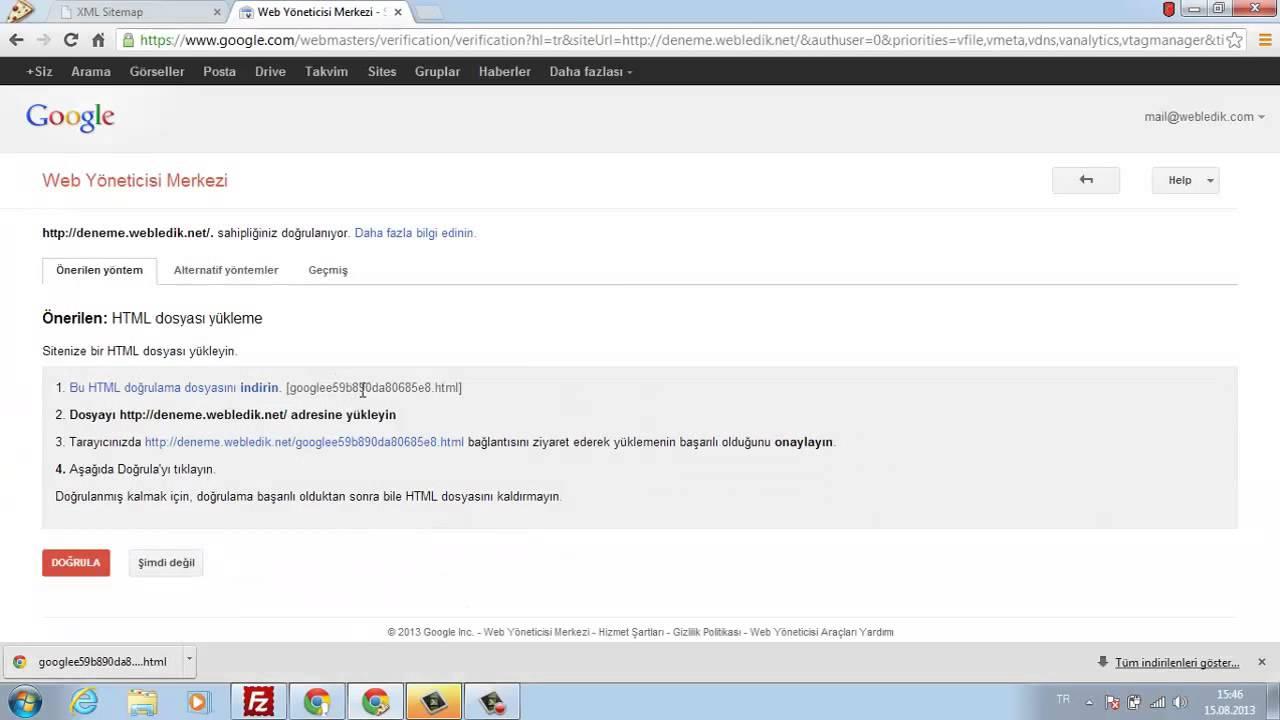 google webmasters a site haritası nasıl gönderilir youtube