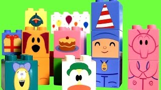 LEGO DUPLO Pocoyo Birthday Party with Mickey Minnie Donald Duck Pluto Cumpleaños Blocks Aniversário