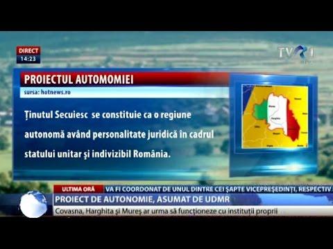 Proiect de autonomie a Ţinutului Secuiesc asumat de UDMR