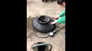 Comment gonfler un pneu au nettoyant frein