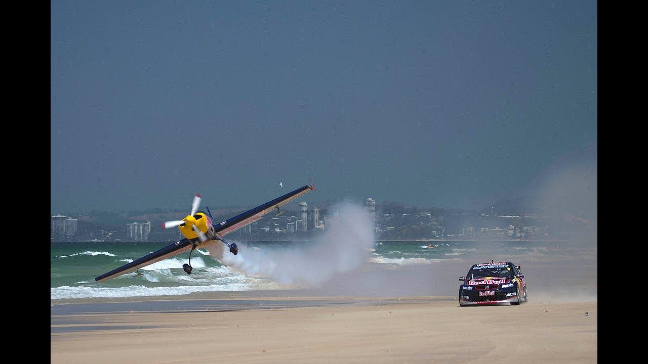Car Stunt Wallpaper Red Bull Racing Australia V8 Supercar Vs Aerobatic Plane