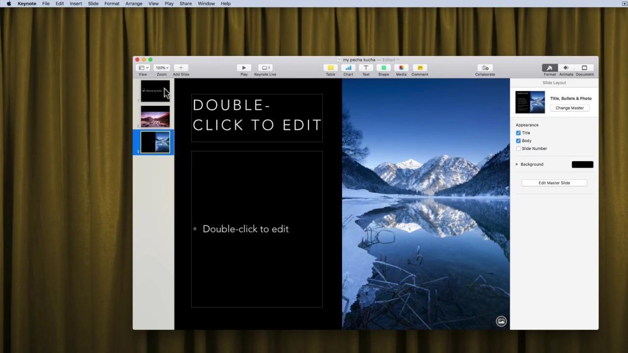 recording a pecha kucha presentation in keynote for mac - youtube, Presentation templates