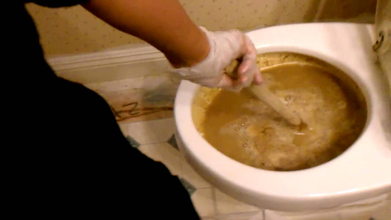 Awesome Clogged Toilet   YouTube