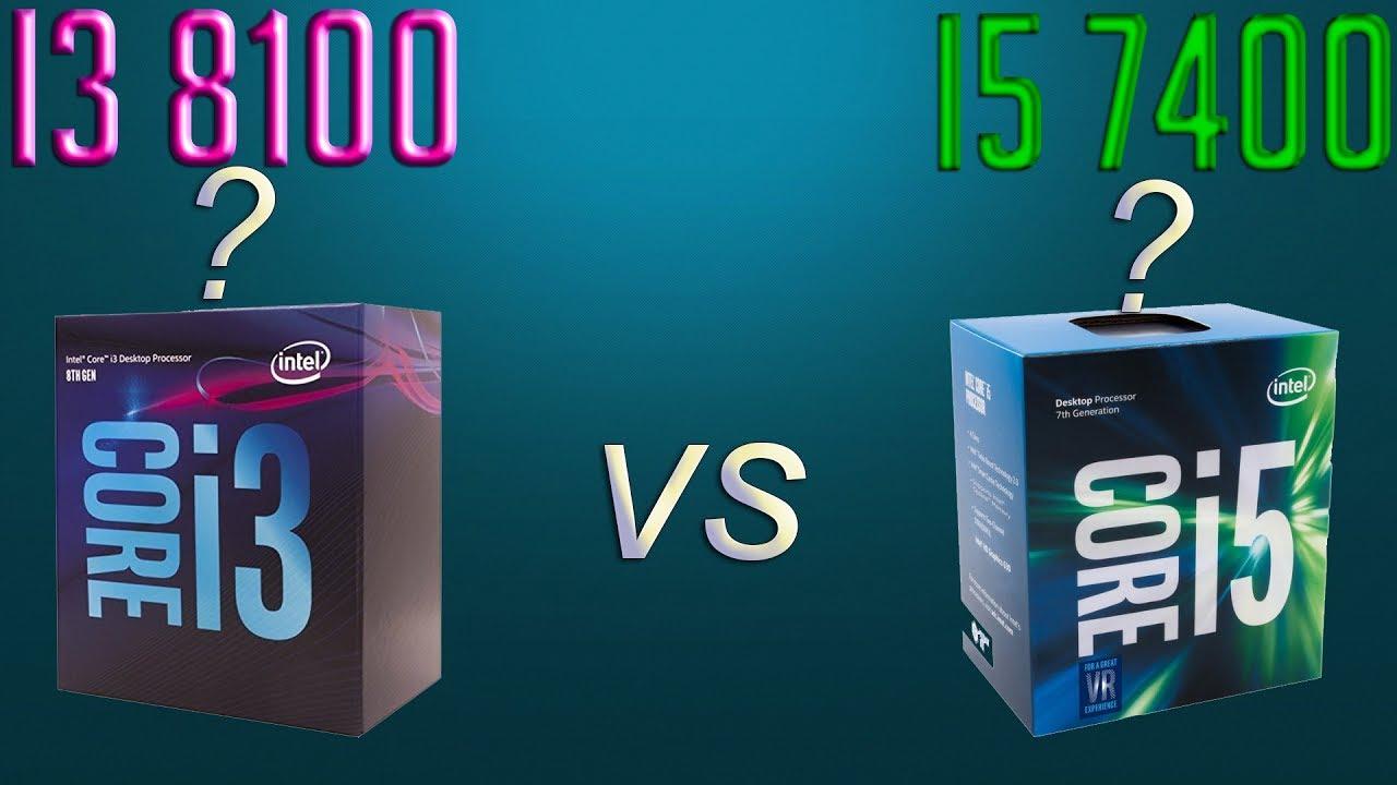 //i3 8100 vs i5 7400//¿Cual es su opinion #5? - YouTube