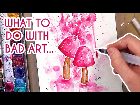 What to do when your art is BAD? + Mushroom Illustration 🍄