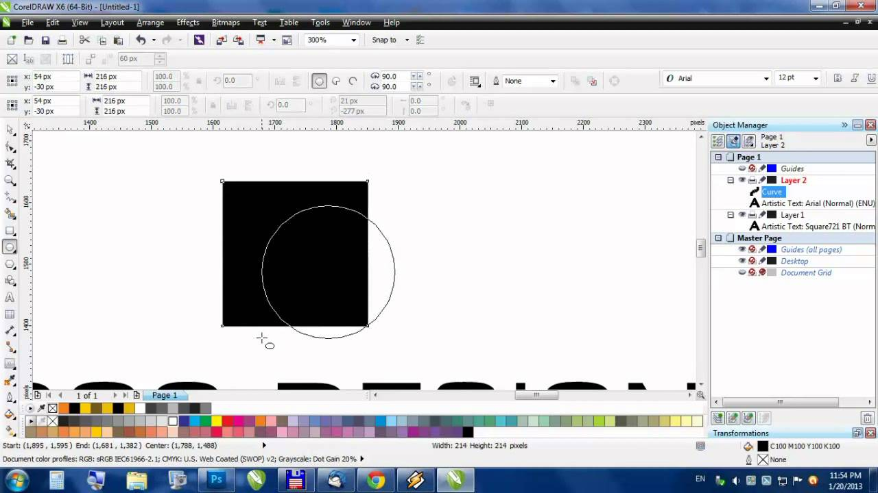 how to make guidelines in corel draw
