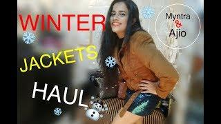 WINTER JACKETS HAUL | AJIO & MYNTRA |TheLifeSheLoved| Sana K