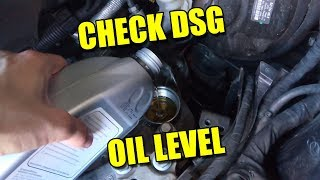 How to check dsg oil level of modern automatic transmission top up atf fluid audi tt s tronic