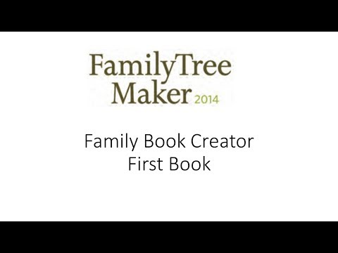 Family Book Creator - First Book