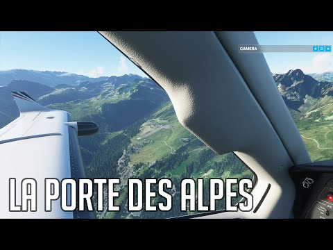 Vol Lyon/Mâcon/Genève/Courchevel sur Flight Simulator 2020