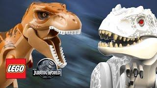 lego jurassic world t rex vs indominus rex