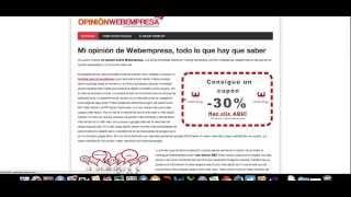 Opinión Webempresa Hosting