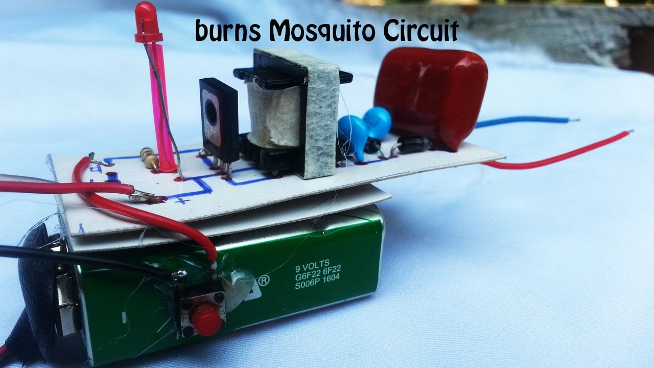 How To Make Circuit Burns Mosquito High Voltage 350 420 Volts Killer Lamp Driver Board The Shock Of Mosquitoes