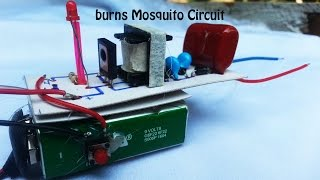 How to make circuit burns Mosquito high voltage 350 to 420 volts -The shock of mosquitoes​ circuit