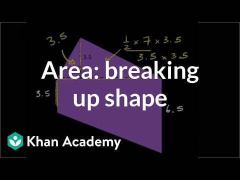 Finding area by breaking up the shape | Geometry | 6th grade