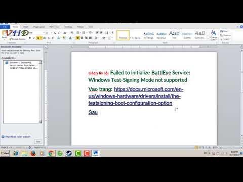 fix Failed to initialize BattlEye Service: Windows Test