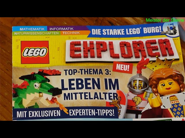 LEGO, EXPLORER, Magazin, TOP-THEMA Nr. 3, Leben im Mittelalter, Meister der Steine