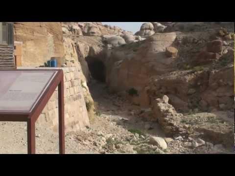 Nabataean Water Drain Tunnel at Petra - Jordan