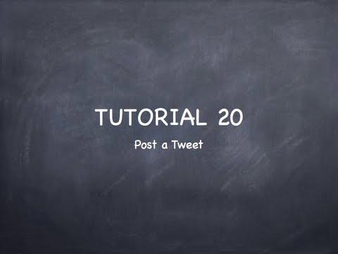 "iOS Tutorial 20 ""Social Framework Twitter"""