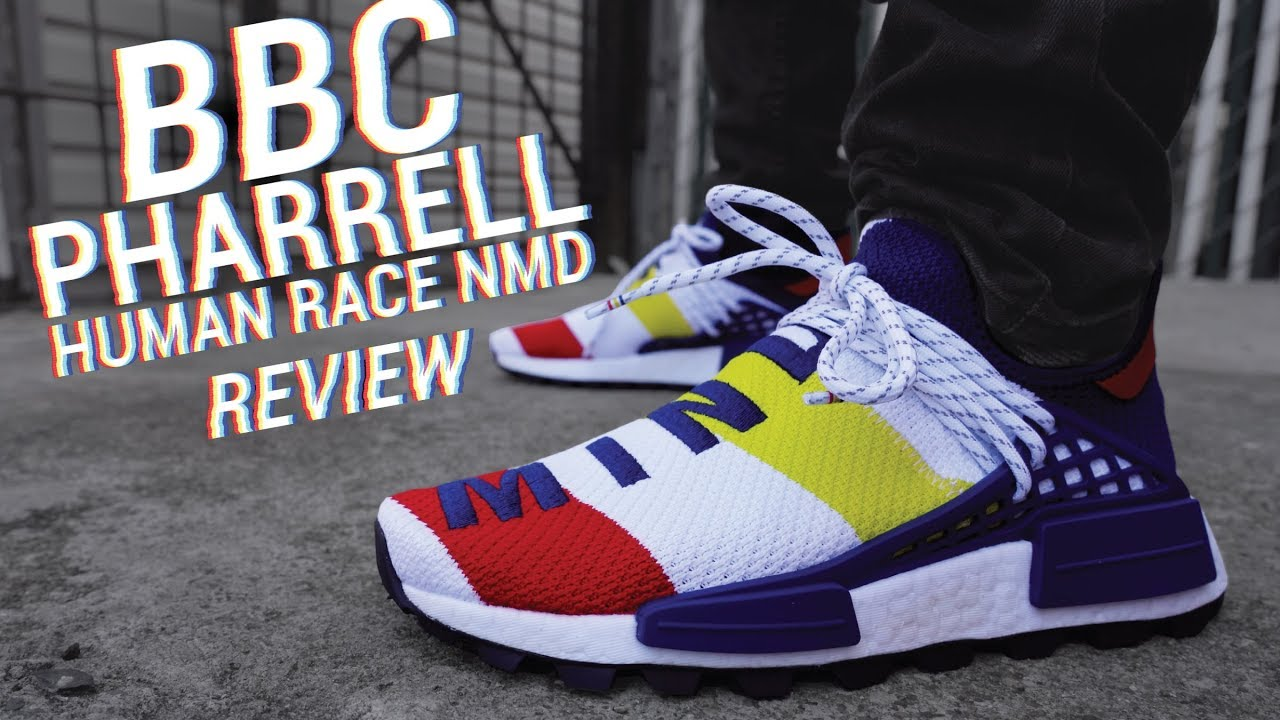 fc57d6262 BBC X Adidas Pharrell Human Race NMD Review   On Feet - YouTube