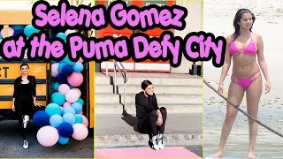 Selena Gomez with Fans at the Puma Defy City - 16 May 2018
