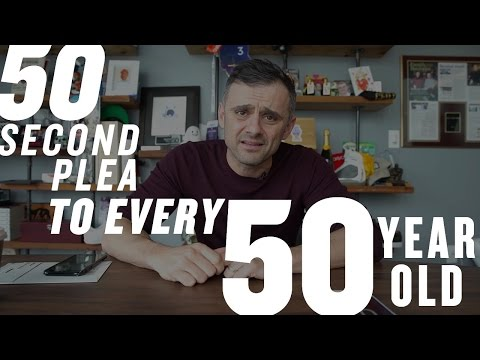 A 50 Second Plea to Every 50 Year Old Out There