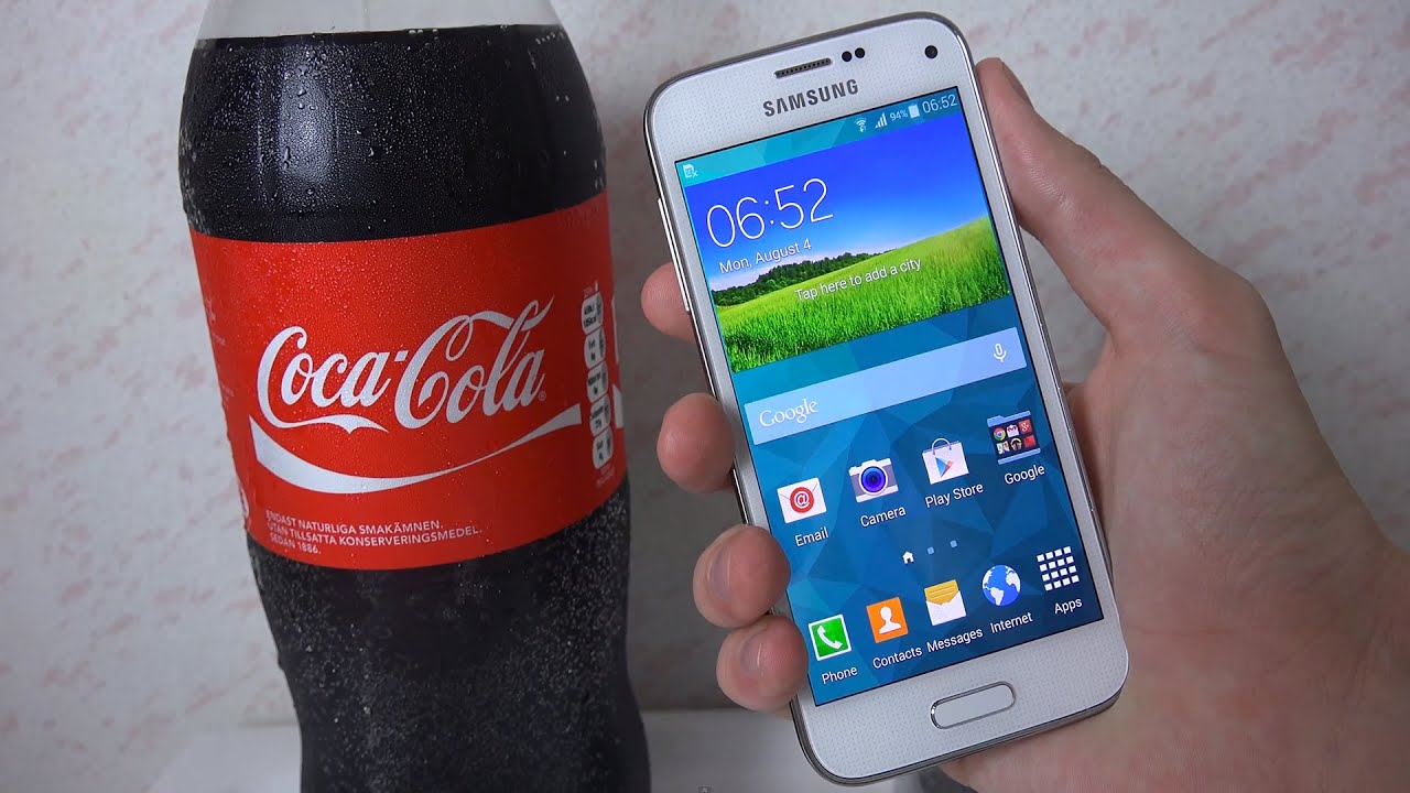 samsung galaxy s5 mini coca cola test youtube. Black Bedroom Furniture Sets. Home Design Ideas