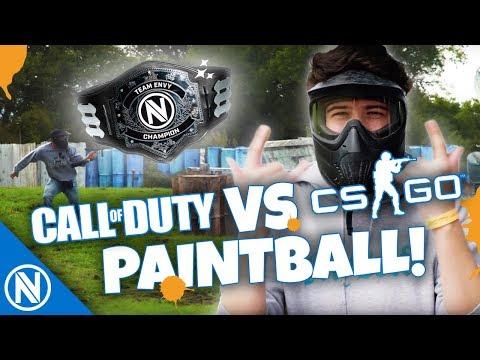 COD vs CSGO - Paintball - Battle for the Belt | Team Envy