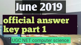 official answer key NTA NET Computer Science