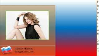 Eurovision 2013 Slovenia - Hannah Mancini - Straight Into Love (Lyrics)