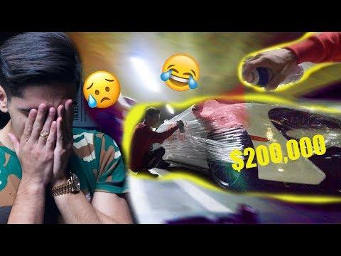 Painting my friends $200,000 Mclaren 570S