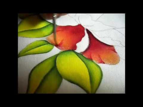Como pintar una flor con luces y sombras youtube - Telas para sombra ...