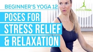 Poses for Stress Relief & Relaxation - Session 12 - Yoga for Beginners Starter Kit