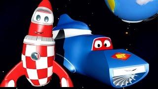 Transformák Karl a raketa | Animák z prostředí staveniště s auty a nákladními vozy (pro děti)