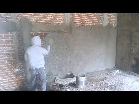 Zarpeo y enjarre para recubrimiento en losa aligerada con - Aplicacion de microcemento en paredes ...